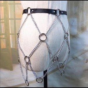 Chain Belt, Punk Harness, Metal bondage Accessory